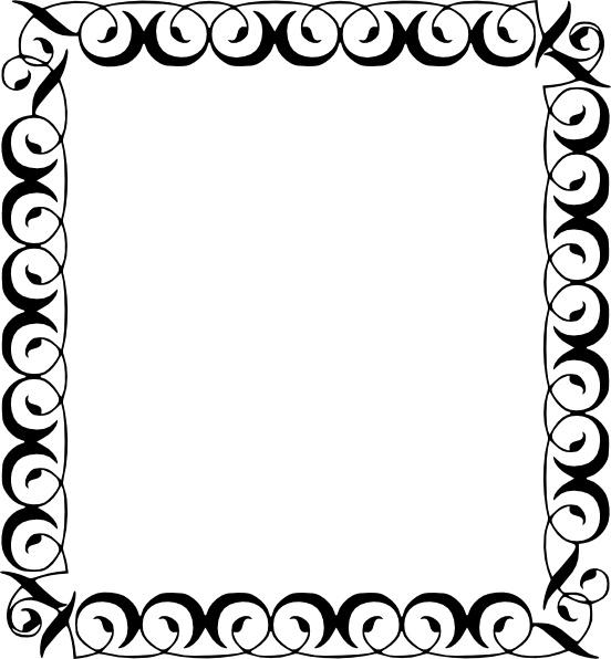 Decorative free vector in. Border clip art