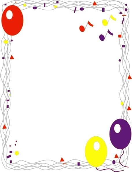 Balloon free vector in. Border clip art
