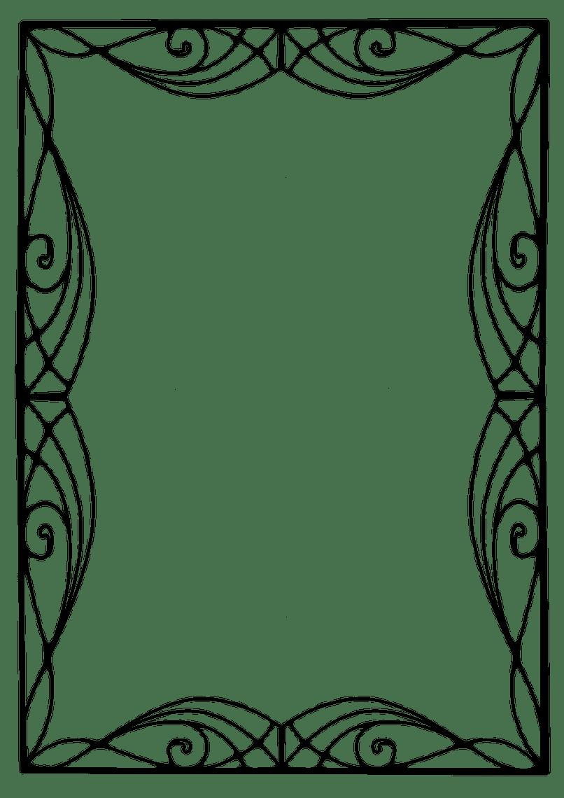 Frame vector frameswalls org. Border clip art art deco