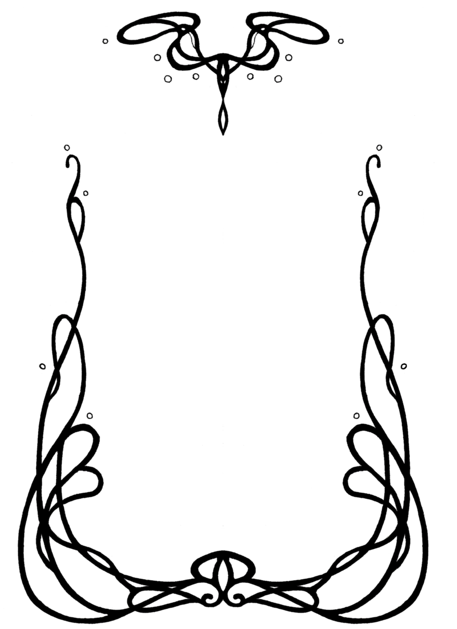 Nouveau designs by anarielhime. Art deco border png