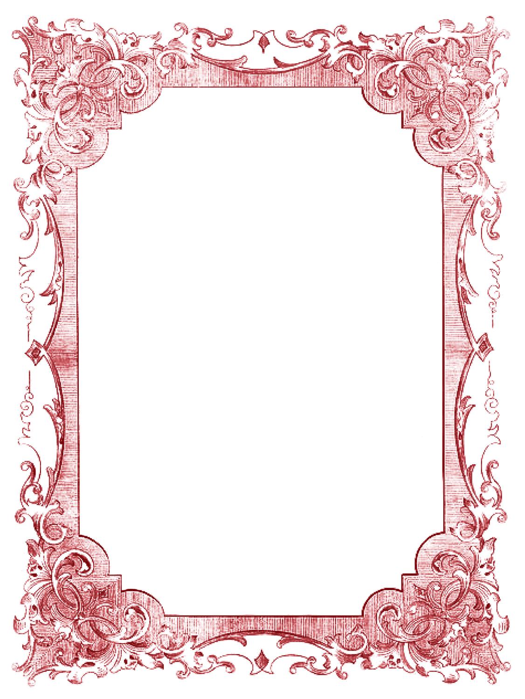 Picture frame romance red. Border clip art elegant