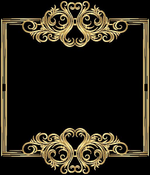 Elegant border png. Gold frame clip art