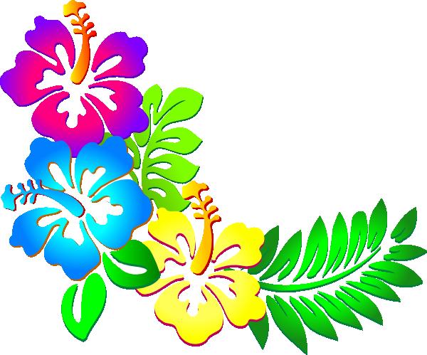 Hibiscus clipart kid clipartix. Border clip art flower