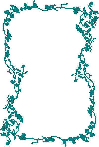 Border clip art flower. Blue at clker com