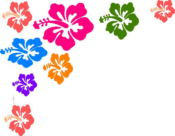 Hibiscus clipart flower boarder. Hawaiian border kid clipartix