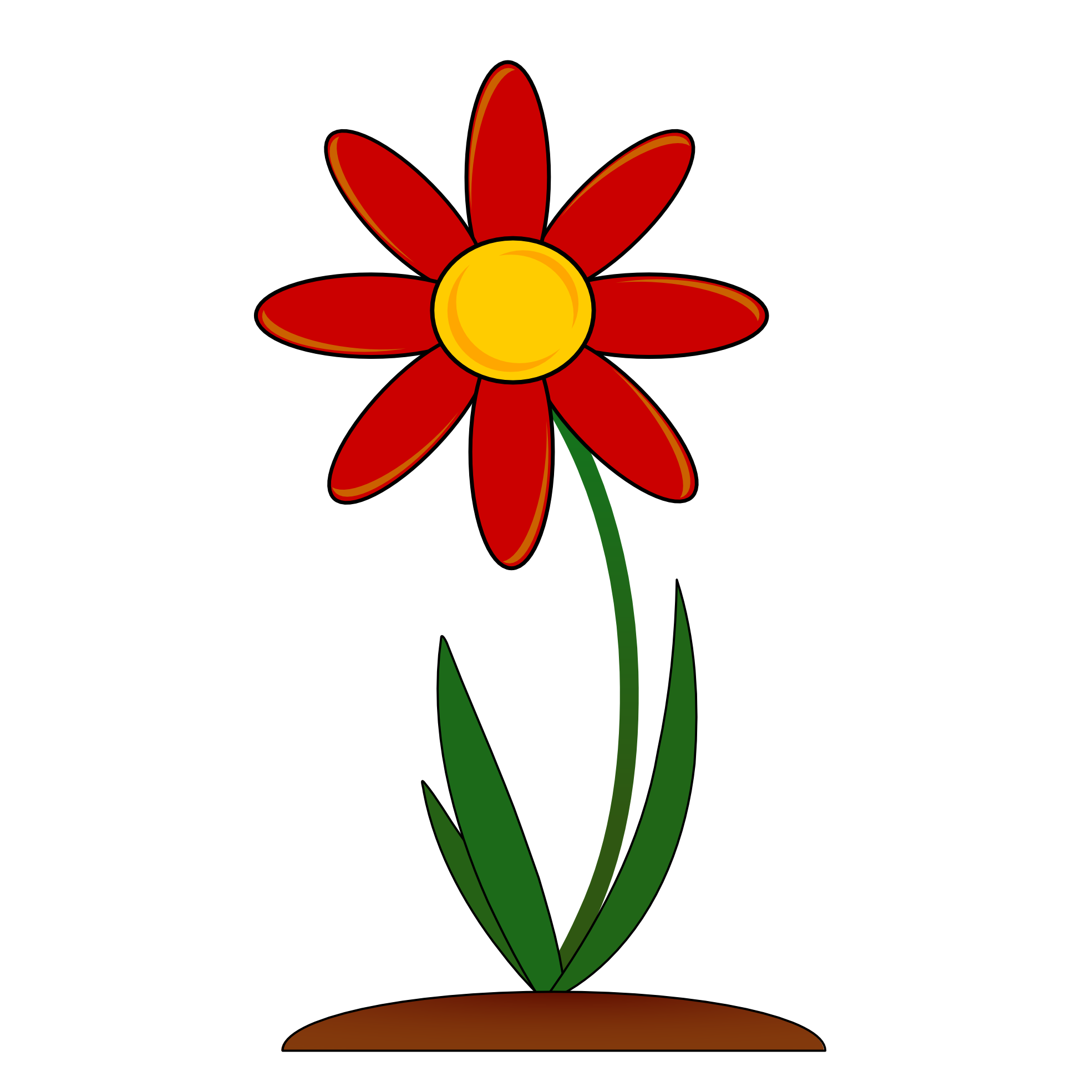 Flower clipart png. Red border clip art