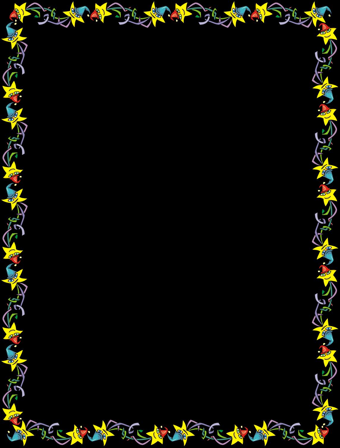Border clip art invitation. Free star party image