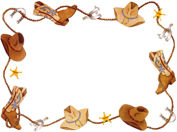Western frame png. Borders clip art new