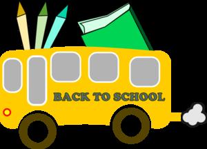Bus free clipart images. Border clip art school