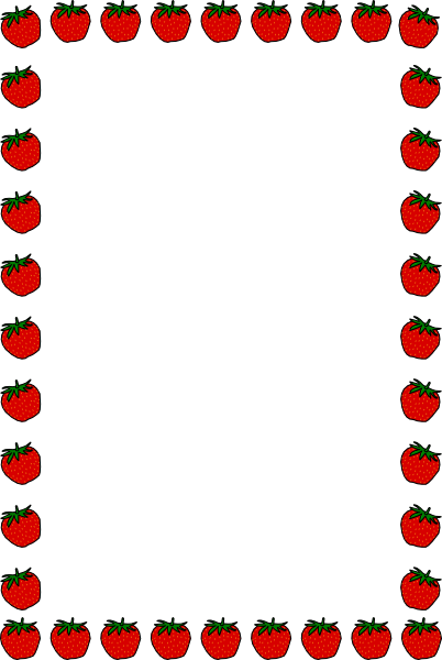 Borders strawberry vector online. Border clip art school