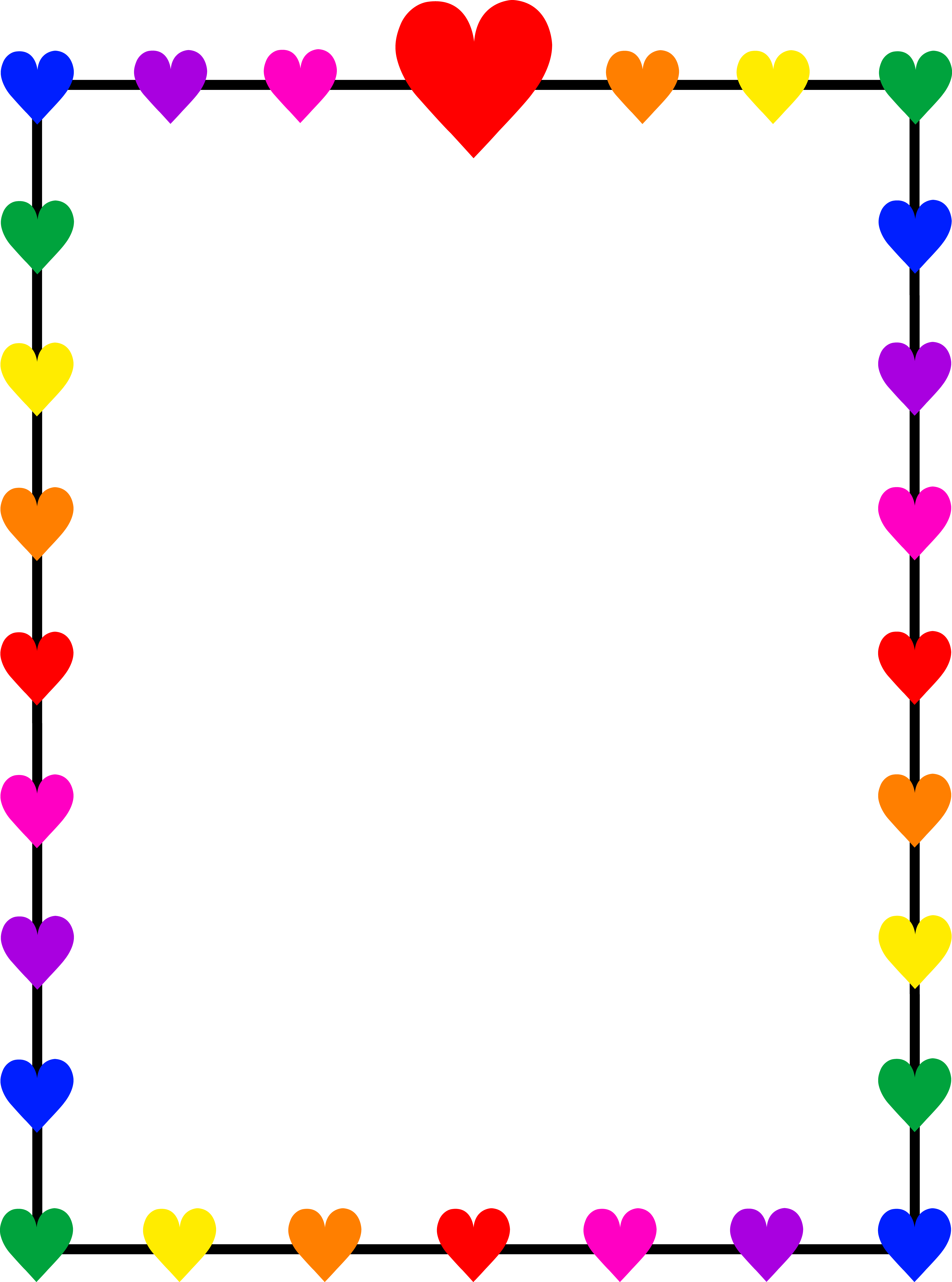 Heart border png. Borders and frames clip