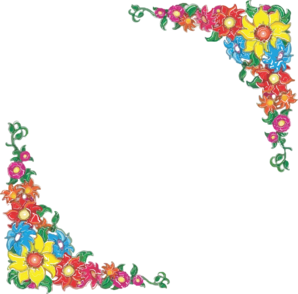 Border clip art spring. Free flower by azam