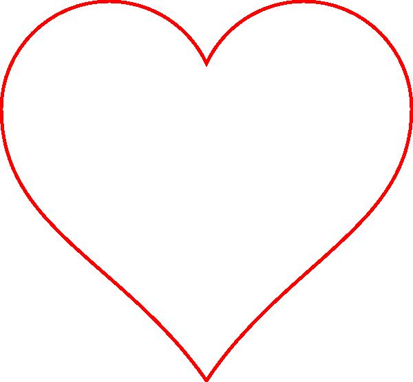 Border clip art transparent. Heart red at clker