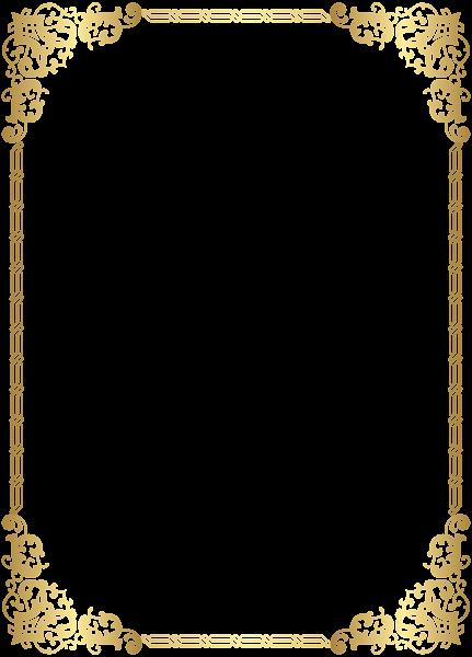 Frame transparent clip art. Gold border png