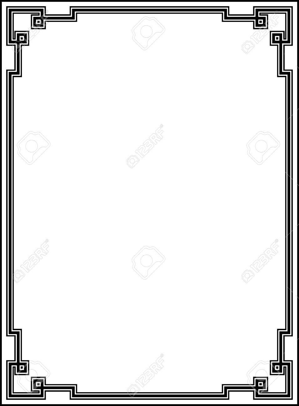 Free corners google search. Borders clipart art deco