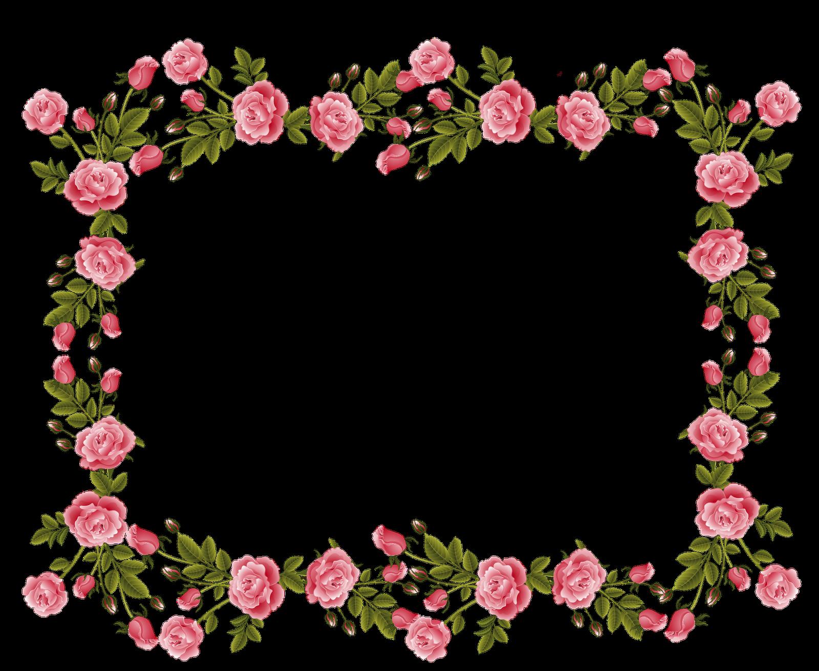 Flower Clipart Border Line Flower Border Line Transparent