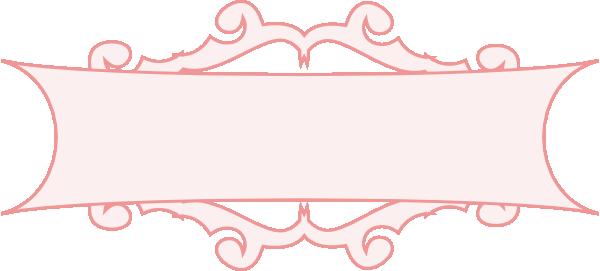 Pink clip art at. Border clipart banner