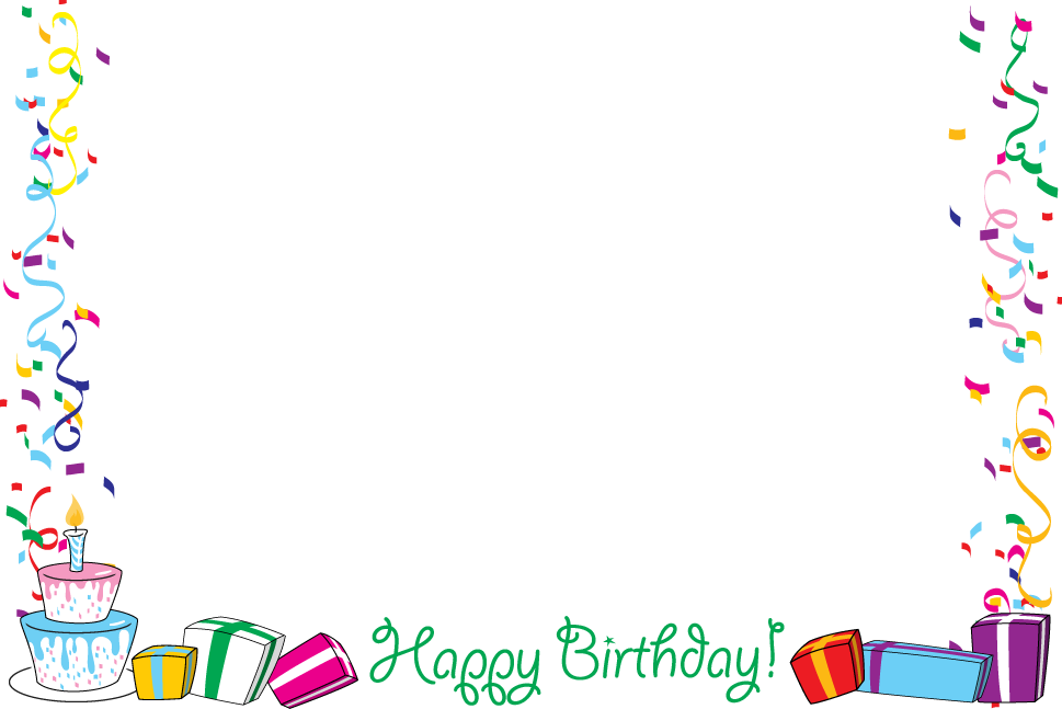 Birthday transparent lacalabaza borders. Coupon clipart border