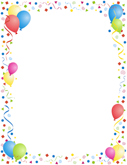 Anniversary clipart border. Party fonts borders clip