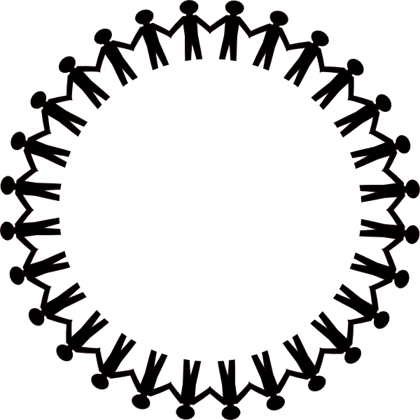 Circle clipart boarder. Stick people black no