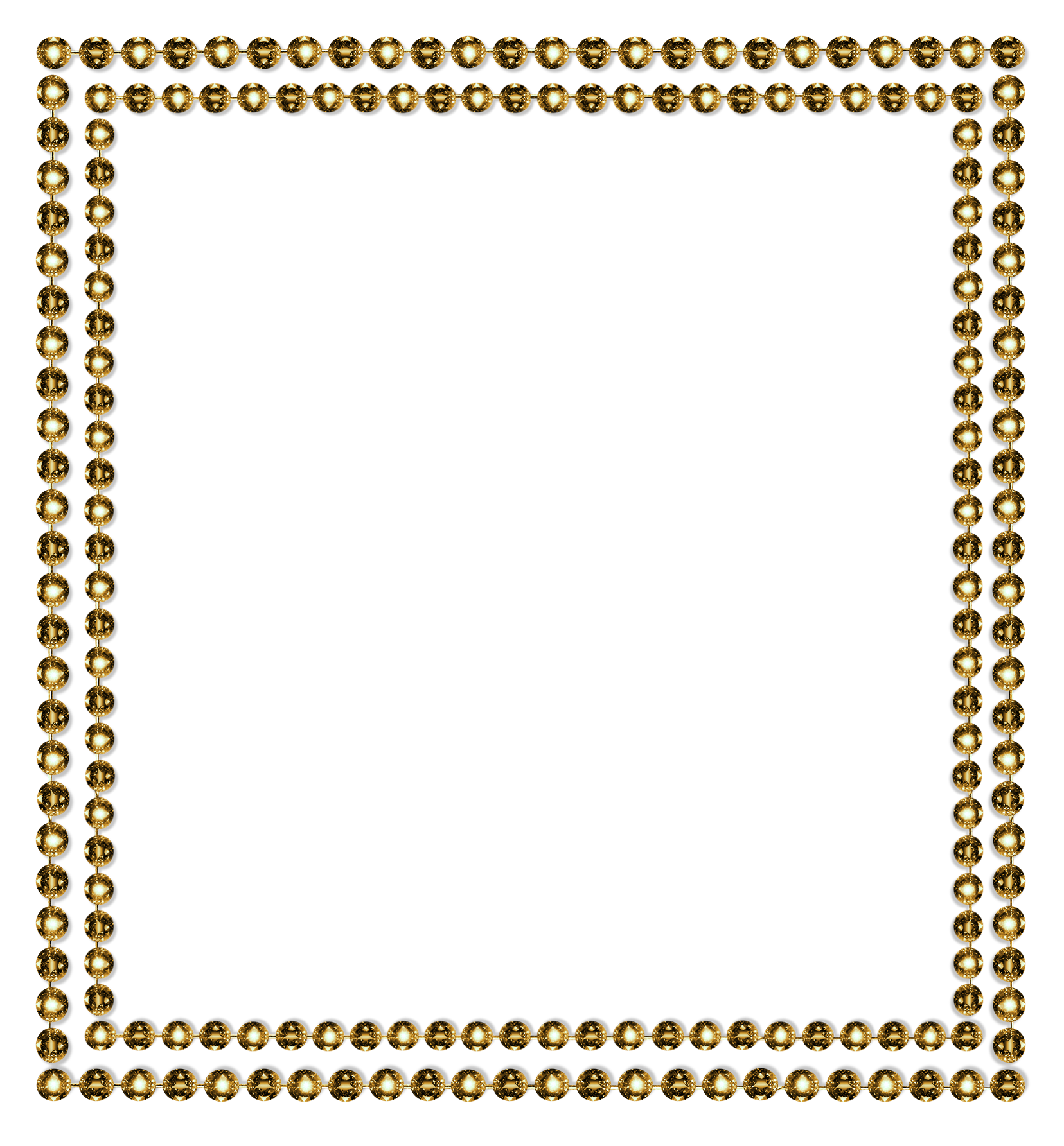 Glitter clipart diamond. Border png gold by