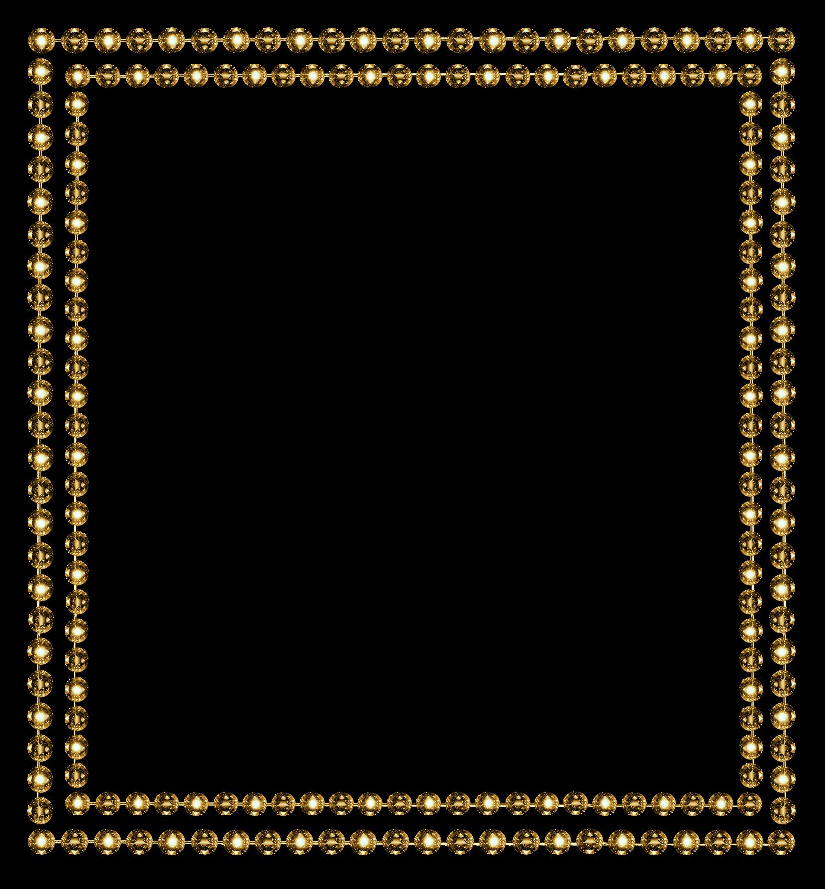 Diamond frame png. Border gold by jssanda