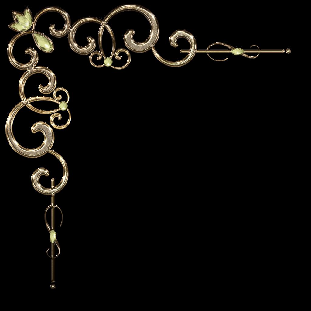 Steampunk clipart separator. Decorative corner with diamond