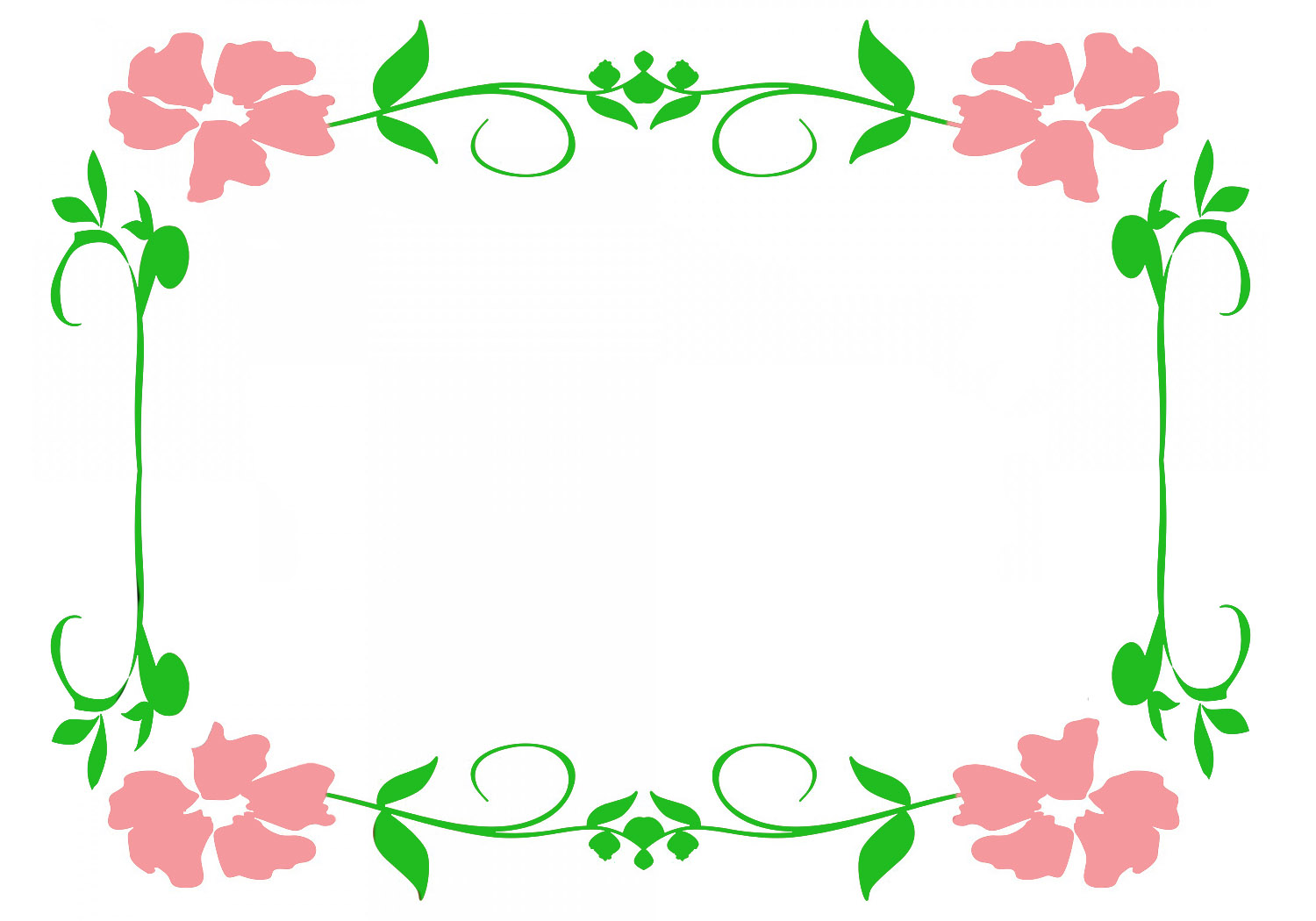 Frames clipart flower. Borders and frame with