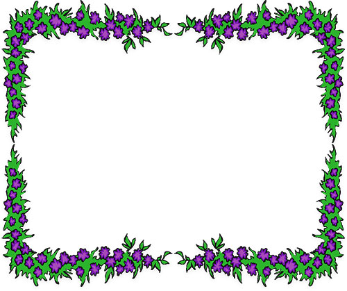 Free flower borders border. Boarder clipart floral