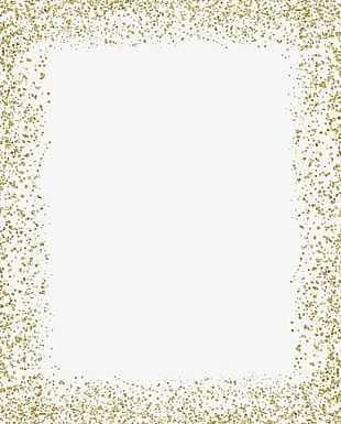 Gold png images . Border clipart glitter