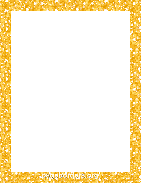 Border clipart glitter. Printable gold use the