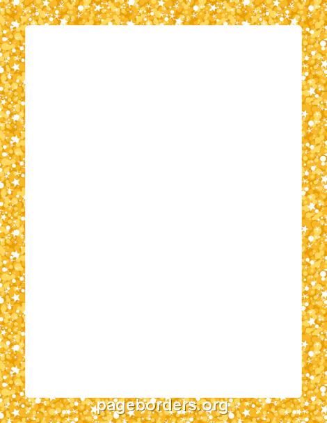 Sparkle clipart border. Printable gold glitter use