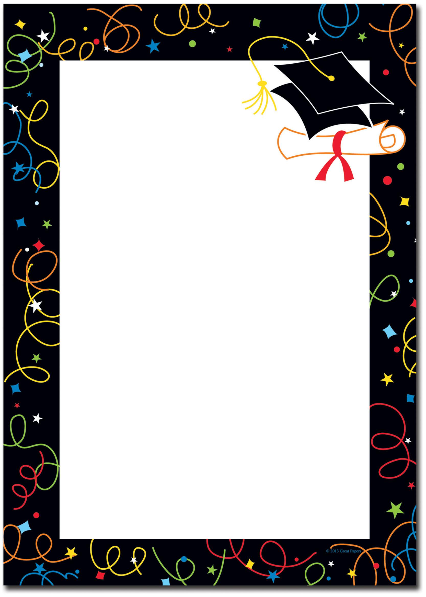 Free printable borders incep. Border clipart graduation