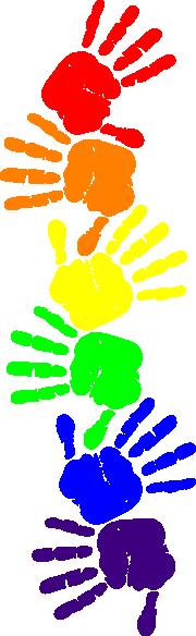 Hand print border clip. Handprint clipart