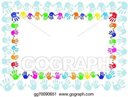 Border clipart hand. Vector stock paint print