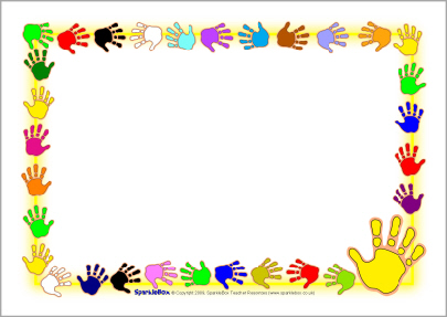 Print a page borders. Border clipart hand