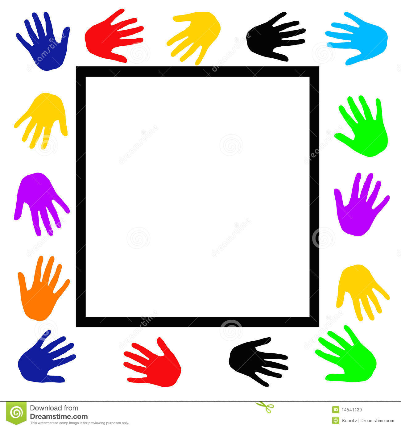 Helping hands . Border clipart hand