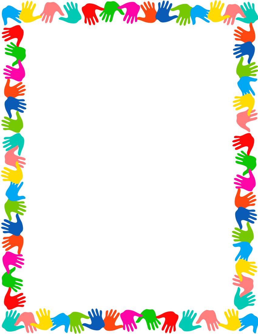 Free handprint cliparts download. Border clipart hand