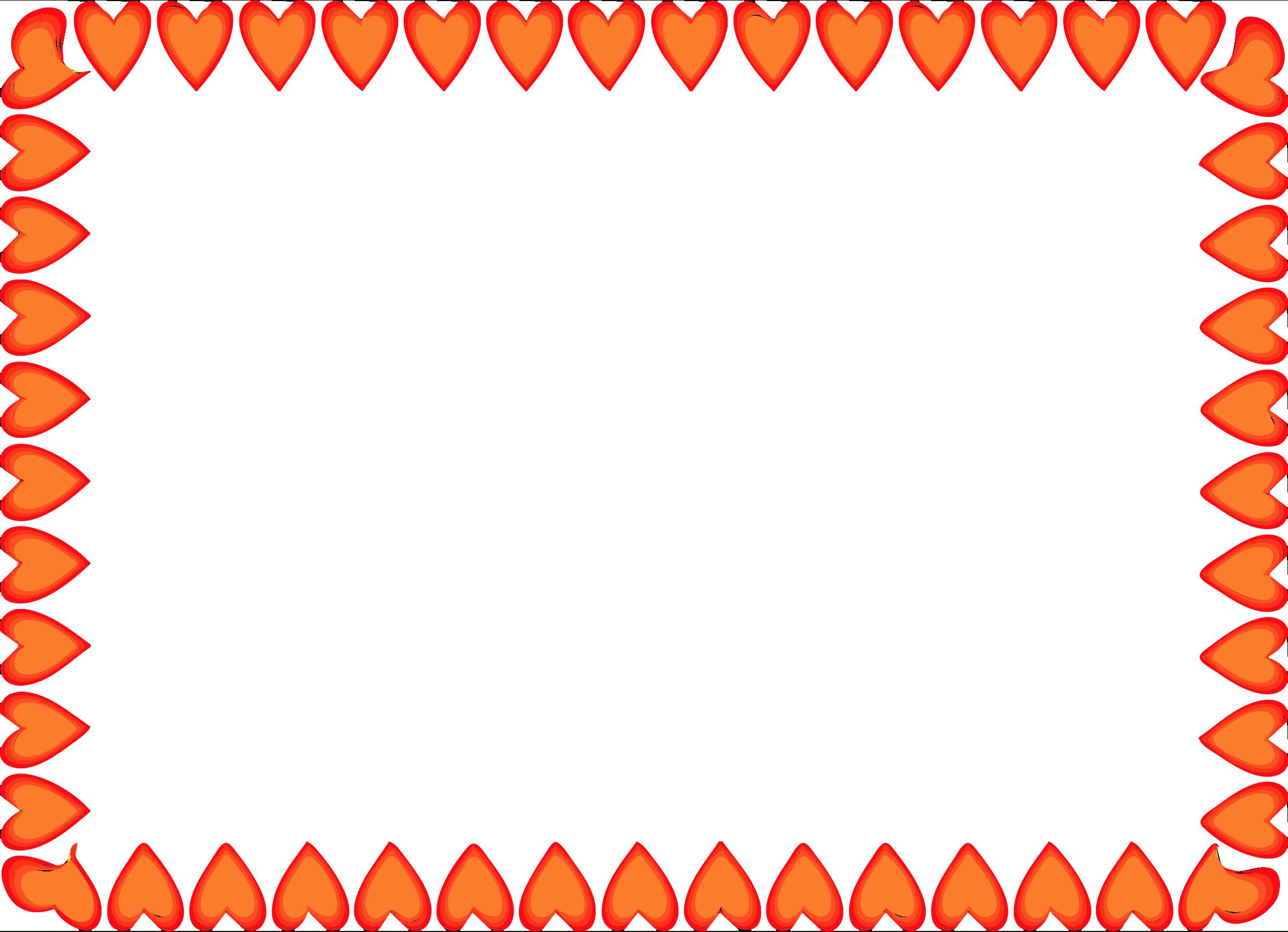 Border clipart horizontal. Heart letters format gclipart