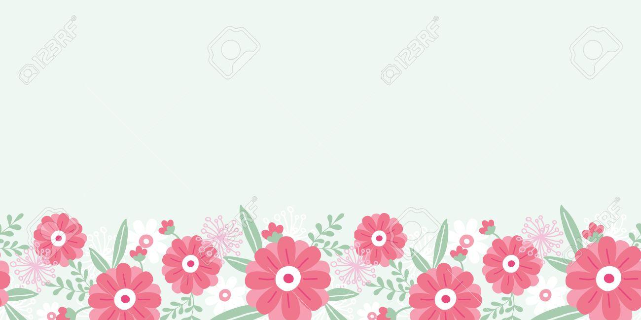 Border clipart horizontal. Flower station