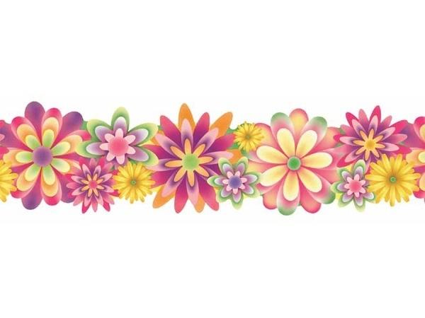 Flower clip art kind. Border clipart horizontal