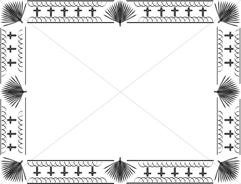 Border clipart horizontal. Easter bulletin borders