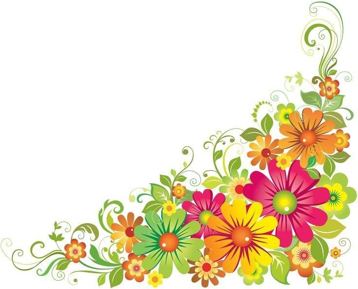 Border clipart horizontal. Of flowers borders flower