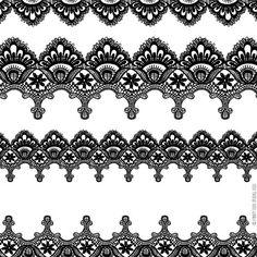 Borders clipart lace. Vintage border clip art