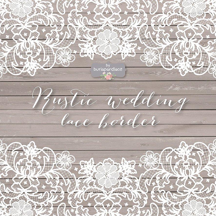 Vector wedding illustrations creative. Border clipart lace