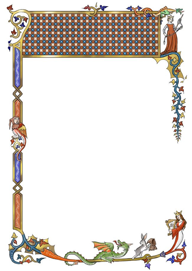 Border clipart medieval. With broad header space