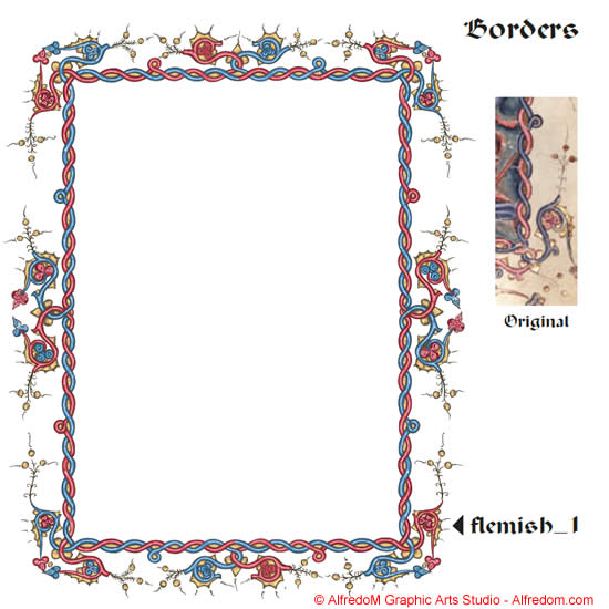 And renaissance illuminated manuscripts. Border clipart medieval