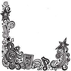 Border clipart music. Free borders clip art