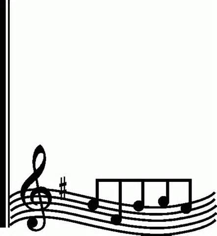 Clip art note panda. Border clipart music