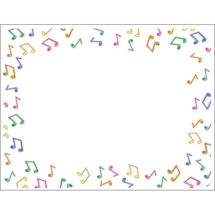 Border clipart music. Note landscape kid frames